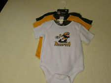 GREEN BAY PACKERS CREEPERS SET OF 3 SZ 0/3 MONTHS NWT