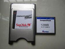 STEC 128MB Compact Flash +ATA PC card PCMCIA Adapter JANOME Machines