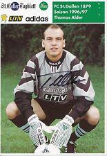 Thomas Alder   FC St.Gallen  Autogrammkarte signiert 297339