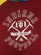 Adidas Indiana Football The Quarry T-shirt 2012 Schedule Hoosiers Red XL IU