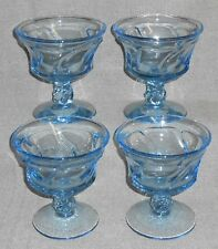 Set (4) Fostoria Glass JAMESTOWN BLUE PATTERN Sherbets or Champagnes