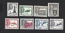 VIRGIN ISLANDS 1952 GEORGE VI, 8 DIFFERENT PICTORIAL STAMPS TO 24c, MH