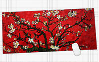 Red Flowers Anti-Slip Mousepad Computer PC Large XXL Rubber Gaming Mouse Pad Mat
