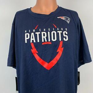 New Nike New England Patriots Icon Dri Fit T Shirt NFL Football Blue Size 2XL
