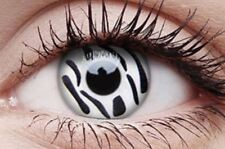 Crazy Contact Lens Lentilles Kontaktlinsen Fun Halloween White eyes Zebra Zombie