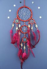 DREAM CATCHER SILVER WEB RED SHELL good quality dreamcatcher cowrie (9 x 30)