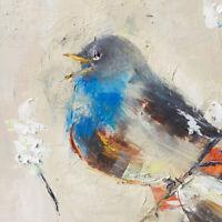 Demenko Natalia Wild bird singing Impressionism Stylish Modern Art Oil painting