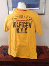 Vintage Tommy Hilfiger Property State University Of Hilfiger NYC Gold T Shirt