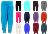 Girls Kids Dance Full Length Plain Harem Hareem Trousers Pants Legging Age 2-13