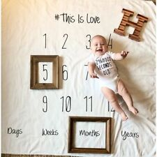 Newborn Baby Girl Boy Blanket Milestone Photography Photo Props Shoots Cloth Mat