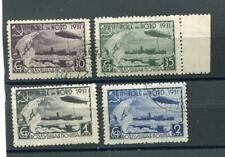 Russie An 1931, Sc C30-33, mi 402A-05A, D'Occasion, Zeppelin, Polar Ours, N Mât