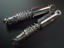 NEW Suzuki GT185 GT250 Rear Shocks / Shock Absorbers Chrome Shroud 100mm