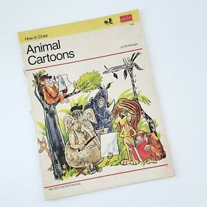 ART DRAWING BOOK HOW TO DRAW ANIMAL CARTOONS VINTAGE