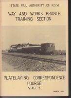 RAILWAYS , TRAINS / NSW , PLATELAYING CORRESPONDENCE COURSE STAGE 2