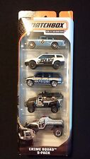 2013 MATCHBOX - Mission: Crime Squad - Police SWAT - 5 Pack Die-Cast Vehicles