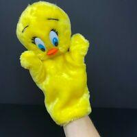 Warner Brothers Tweety Bird Hand Puppet 1990 Vintage Yellow Bugs Bunny Korea