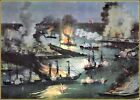 Currier & Ives: The Splendid Naval Triumph on The Mississippi  Art Print