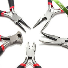"""5pcs JEWELERS PLIERS SET JEWELRY MAKING BEADING WIRE WRAPPING HOBBY 5"""" PLIER VIP"""