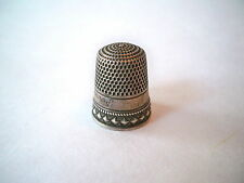 Antique Silver Diamond Thimble by Stern Bros. & Co.