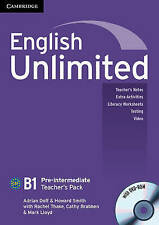 Cambridge ENGLISH UNLIMITED PRE-INTERMEDIATE Teacher's Pack/Book w DVD-ROM @NEW