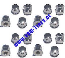 16 x Radmuttern Flachbund 10x1,25 NEU Quad / ATV, kurze Hutmutter, 2cm hoch