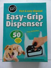 Perro: de fácil agarre Con Dispensador Para Caca / Poo Bolsa & 50 con aroma de limón bolsas negras.