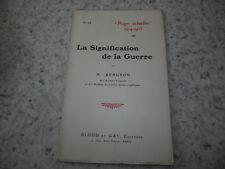 1915.La signification de la guerre.14-18.Bergson