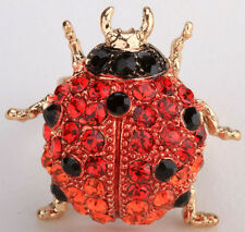 Ladybug ring bling fashion jewelry gifts for women wife mom 1 matching earrings
