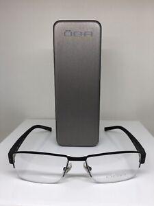 New OGA 79230 Eyeglasses Rx Frames C. NN062 Black & Brown 55-17mm Made in France