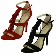 Ladies Anne Michelle Heeled Sandals With Ankle Buckle