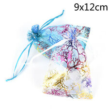 10pcs Jewelry Pouch Gift Bags Wedding Favors Organza Pouches Decoration Randoggt 9*12cm