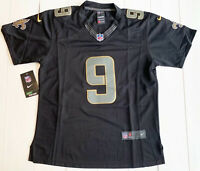 Nike On Field New Orleans Saints Drew Brees Black Stitched Youth XL Jersey #9