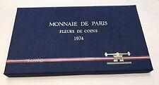 FDC TRES RARE COFFRET FLEUR DE COINS COMPLET DE 1974 @ AVEC 50 FRANCS HERCULE !!