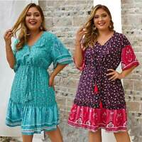 Evening Dress Short Women's Beach Maxi Sundress Summer Casual Cocktail Boho