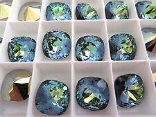 1 Crystal Sahara Swarovski Crystal Square Cushion Cut  Stone 4470 12mm