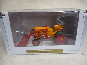 SpecCast Minneapolis Moline Model 445 Toy Tractor with Loader, 1/16 Scale, NIB