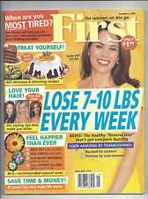 First Womens Mag Nov 7 2005 Crafts Recipes Celebrity Diet SAVE TIME AND MONEY!