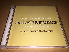 PRIDE & PREJUDICE soundtrack CD score DARIO MARIANELLI oscar PROMO fyc