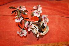 Vintage Glass Asian Bonsai Tree Celadon Plant Pot