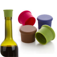Mixed Colors Silicone Wine Bottle Stopper Beer Cap Seal Covers Reusable Set Of 5