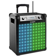 Ion Audio Wireless Rechargeable Speaker with Sound-Reactive Lights - Block Rocke