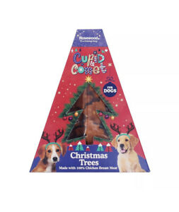 Rosewood Christmas Tree Dog Treats in Gift Box - 150g - with 60% Chicken