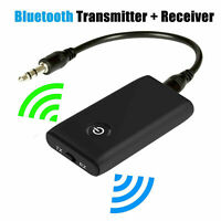 Bluetooth 5.0 Transmitter and Receiver 2-in-1 Wireless 3.5mm Audio Aux R7K4