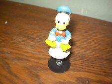 Vintage Walt Disney Spring-Loaded Popup Toy Donald Duck Bobble. Made Hong Kong.