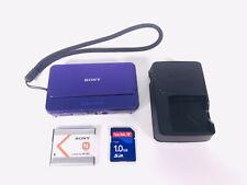 Sony DSC-T99 14.1MP Purple Japanese Model Digital Camera SD Card Battery Charger