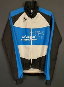 SHIRT GIORDANA ITALY MENS CYCLING BICYCLE BIKE JERSEY MAILLOT LONG SLEEVE SIZE S