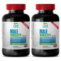 Testosterone Pills XL - Male Virility 1300mg - L-Arginine Powder 2B