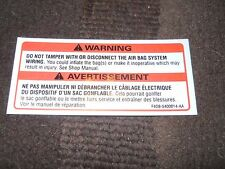 1994 1995 1996 1997 1998 FORD MUSTANG GT SVT COBRA SALEEN AIR BAG WARNING DECAL