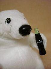 "Coca Cola Plush Polar Bear Sitting 4"" with Bottle Coke"
