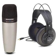 Samson C01 Vocal Instrument Microphone & SR850 Studio Monitor Headphones